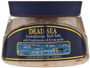 Dead Sea Aromatherapy Bath Salts with Frankincense Oil & Rose Petals-500ml